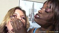 Lesbian punishment sex with Leah Livingston and Monique