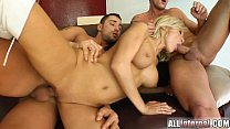All Internal Two guys trash Ginna's pussy and cream her good 12 min