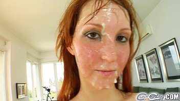Cum For Cover Redheads drenched in cum after 5 cock deepthroat 12 min
