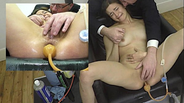 Miss April's Painful Enema With Soap And The Bardex