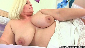 British grannies playing with their soft sensual body