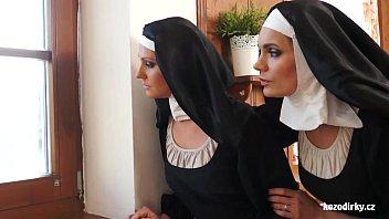 Two nuns enjoying sexual adventure 15 min