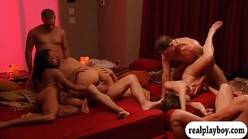 Horny swingers nasty game and groupsex