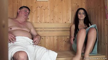 Horny Grandpa Fucks The Tiny Bella Beretta
