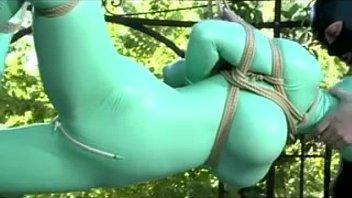 Latex catsuit bondage fucked outside - myfuckingwebcam.com