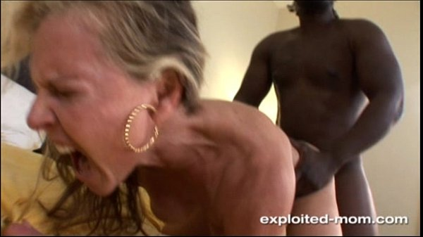 Blonde Milf gets her Back Blown Out by a Big Black Cock Interracial Video 5 min