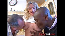 Big orgy with two sluts milf in the kitchen of an amateur! French amateur