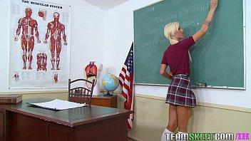 InnocentHigh Young blonde small tits schoolgirl Maia Davis fucks hardcore
