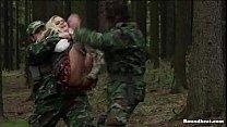 Captured slave runs but fails to escape