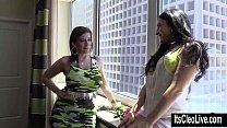 Cleo Pleases Big Tit Superstar Sara Jay