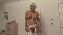 Mature blonde bosslady gets harsh 5 min