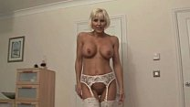 Mature blonde bosslady gets harsh