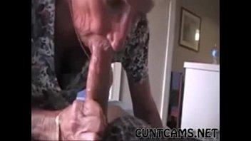 Grandmas Roommate Getting Fed Cum - More at cuntcams.net 2 min