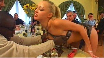 Two young sexy maids victims of customers gang bang! 39 min