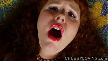 Super sexy chubby redhead loves to play with her juicy pussy for you