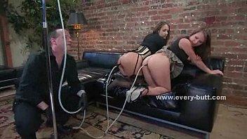 Master threesome anal sex video
