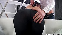 FirstAnalQuest.com - BUTT PORN WITH A SEXY RUSSIAN TEEN IN TIGHT LEGGINGS