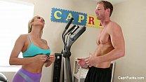 Cappri Cavanni and her trainer