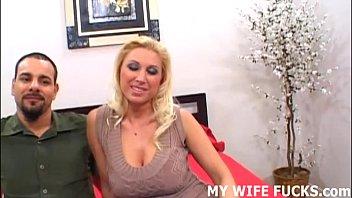 Watch your wife riding a big pornstar cock