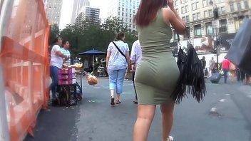 Candid Fat Ass In Green Dress