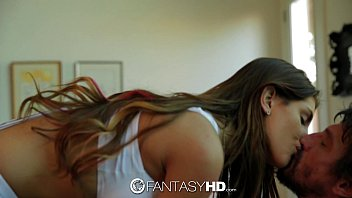 FantasyHD - Canadian babe August Ames strips down to fuck