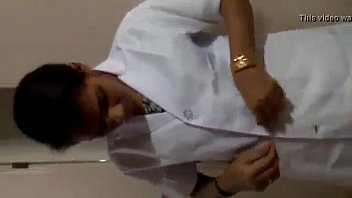 Indian nurse showing her asset to duty doctor