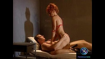 Redhead milf Ruby Elvira in red lingerie loves young hard cocks 20 min