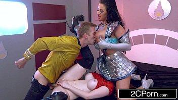 Captain D & Starfleet Officer Zara DuRose Educate Sexy Alien Brooklyn Blue