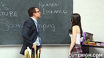 Troublemaking Girl Gets Dirty During Detention