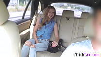 Cutie passenger fucked in the backseat