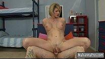 Busty tranny Delia De Lions anal screwed