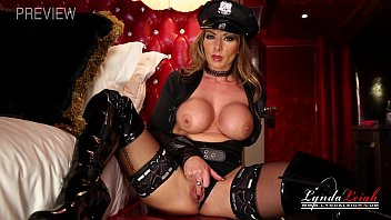 British Milf Dressed as a Police Officer Jerk Off Instruction while Wanking her
