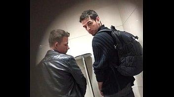 spying hot boys in public restroom