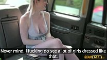 Damn unusual woman appreciates hot sex inside the taxicab