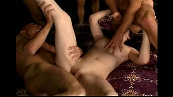 Faith Leon Gangbanged by 5 Guys and Is Creampied