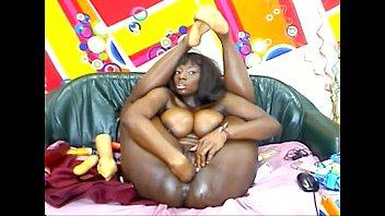 Big Boobs ebony girl anal dildo webcam, More at  livecamspro.com