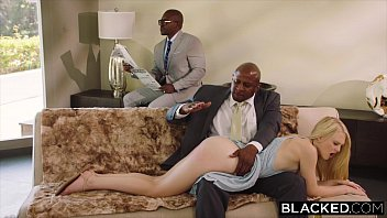 BLACKED Submissive girlfriend punished by two black men