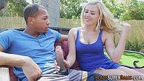 Babe interracially rammed