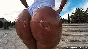 Big Blonde Oiled Up Booty