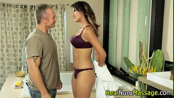 Nuru masseuse fucking
