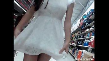 Two Lesbian Girls Having Public Fun at Walmart