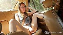 Slim Sierra Masturbating In The Car