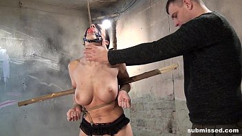 Cindy Dollar ball gagged struggling