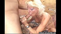 Sexy blonde mature fucks y. guy