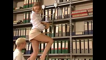 Blonde gets fucked hard in the library