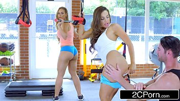 Big Tit Chicks Fuck Fitness Instructor in a Gym - Abigail Mac, Nicole Aniston