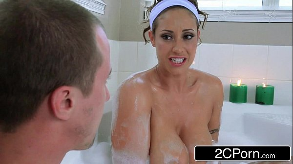 Horny Guy Joins His Friend's Busty Latina Mom Eva Notty in a Bath