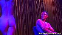 sexy lapdance on public stage