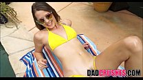 Tanning With Daddy Fingering Orgasm