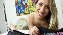 Kimber Lee Finds Peeping Tom in Closet and Blows Him!